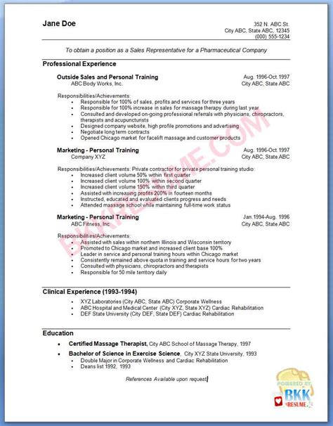 Representative Sle Resume by Resume Pharmaceutical Sales