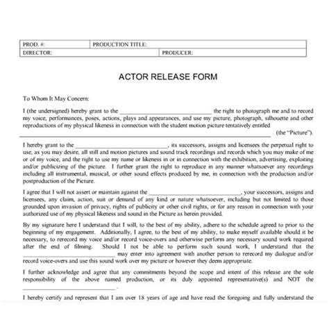 acting contract template student production forms what types of forms and
