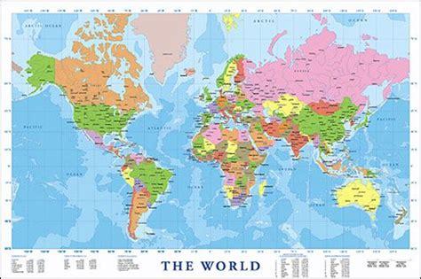 large modern map   world cool stuff  future