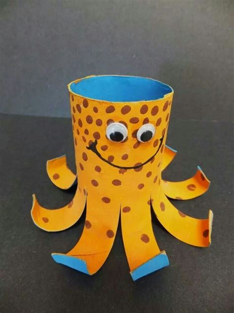 Octopus Toilet Paper Roll Craft - toilet paper octopus arts and crafts
