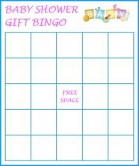 baby shower gift bingo template babies pinterest