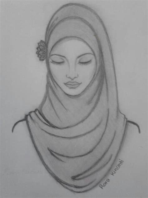 drawing pattern abaya beautiful hijab sketching illustrations pinterest