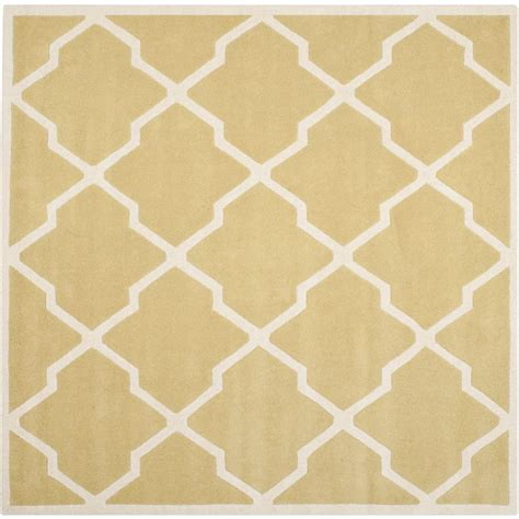 7 square rug safavieh chatham light gold ivory 7 ft x 7 ft square area rug cht735l 7sq the home depot