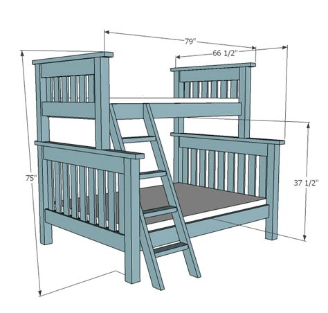 bunk bed building plans ana white twin over full simple bunk bed plans diy