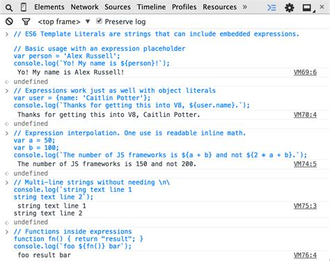 addy osmani on twitter quot es6 template strings working in