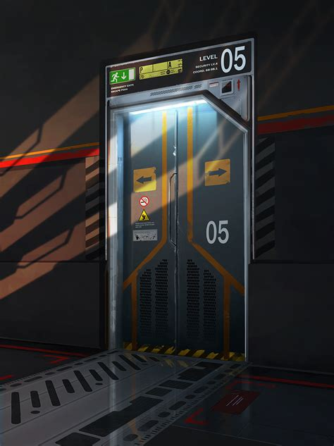 Sci Fi Door by Sci Fi Door By Artek92 On Deviantart