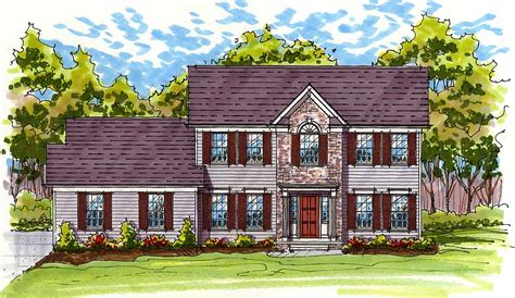 Traditional Colonial House Plans by Classic Colonial Exterior 20519dv 2nd Floor Master
