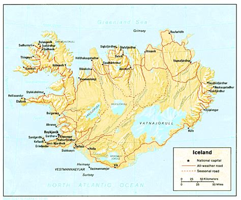 map iceland nationmaster maps of iceland 8 in total