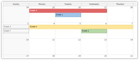 event customization monthly event calendar daypilot