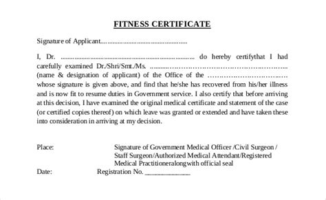 7 doctor medical certificate format proof of working