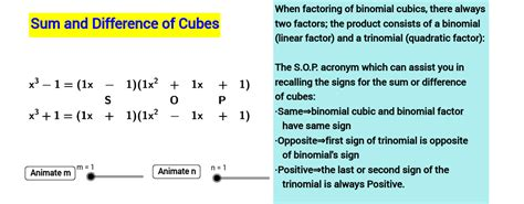 Sum And Difference Of Cubes Worksheet by Copy Of Sum And Difference Of 2 Cubes Geogebra