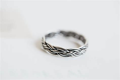 925 sterling silver vintage tiwsted ring silver ring