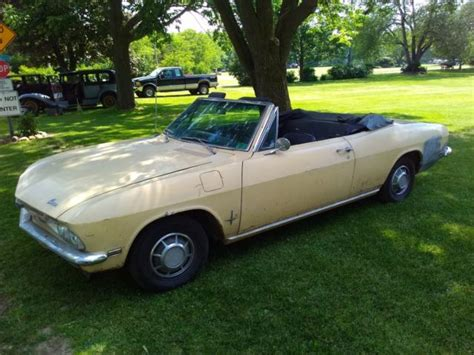 1968 chevy corvair convertible for sale 1968 corvair monza 110 convertible good unrestored car