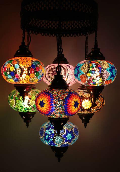 multicolour turkish mosaic hanging l light made 7