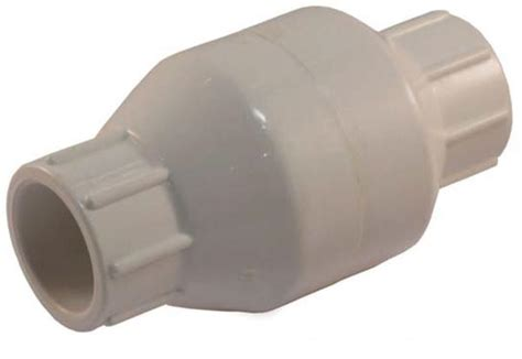 solvent connection pvc in line check valve with nps