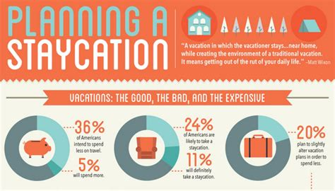 bunny s staycation s business trip books staycation planning guide infographic huffpost