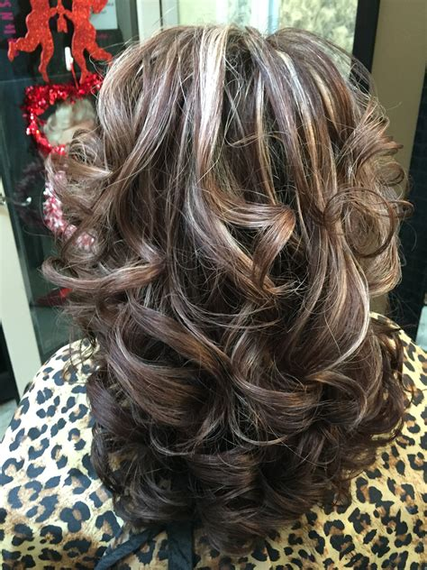 pics of platnium an brown hair styles medium brown hair with platinum highlights cut it n strut it
