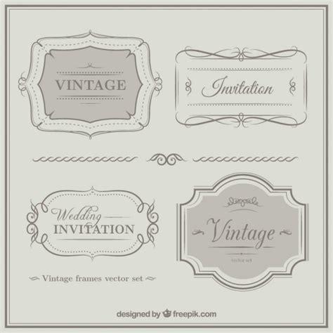 wedding invitation ornaments vector vintage weeding invitation ornaments vector free