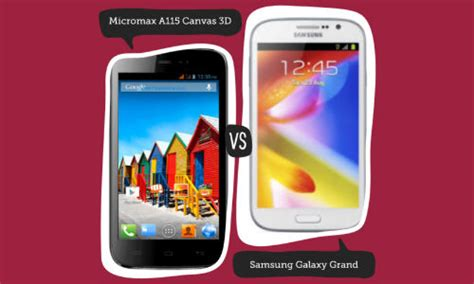 micromax doodle 2 vs galaxy grand duos micromax a115 canvas 3d vs samsung galaxy grand duos
