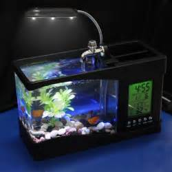 Small Desktop Fish Tank Portable Usb Desktop Fish Aquarium Desk Organizer Home