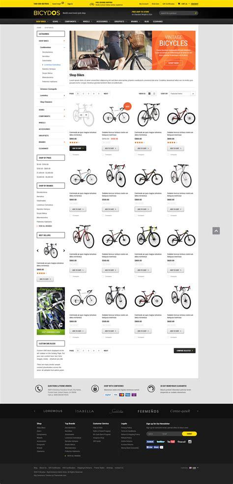 Bicydos Premium Responsive Bigcommerce Template Stencil Ready Themevale Com Bigcommerce Bigcommerce Stencil Templates