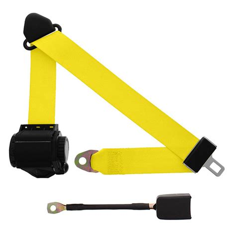 yellow car seat belts 3 point retractable seat belt with end release yellow
