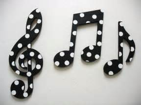 Music Wall Decor items similar to music notes wall decor black and white on