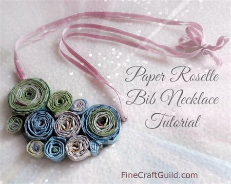 How To Make A Necklace With Paper - how to make recycled paper bead necklaces
