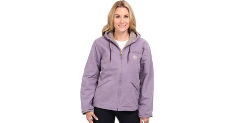 Hoodie Carhartt 07 Jersiclothing lyst carhartt sandstone jacket in purple