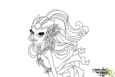 monster high coloring pages astranova how to draw astranova from monster high drawingnow