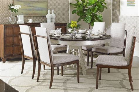 Stanley Dining Room Table Stanley Fairlane 7pc Dining Room Set With Oval Table And Upholstered Host Chairs In