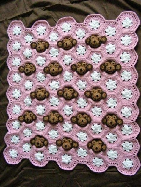 cute pattern blanket monkey face crochet pattern is super cute to boot the whoot
