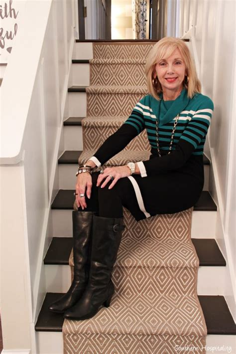 dresses with boots for women over 50 fashion over 50 sweater dresses and boots southern