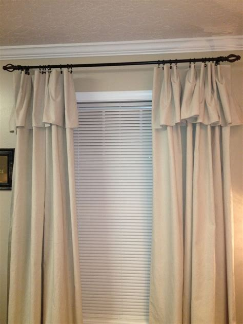 how to make drop cloth drapes curtains made from canvas drop cloths budget decorating
