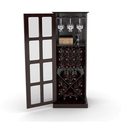 wine and glass cabinet windowpane 24 wine cabinet in espresso atlantic inc