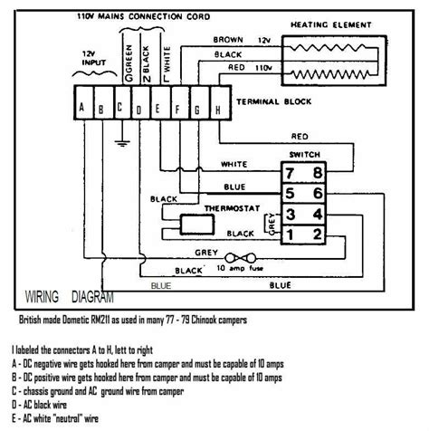 dometic caravan fridge wiring diagram 37 wiring diagram