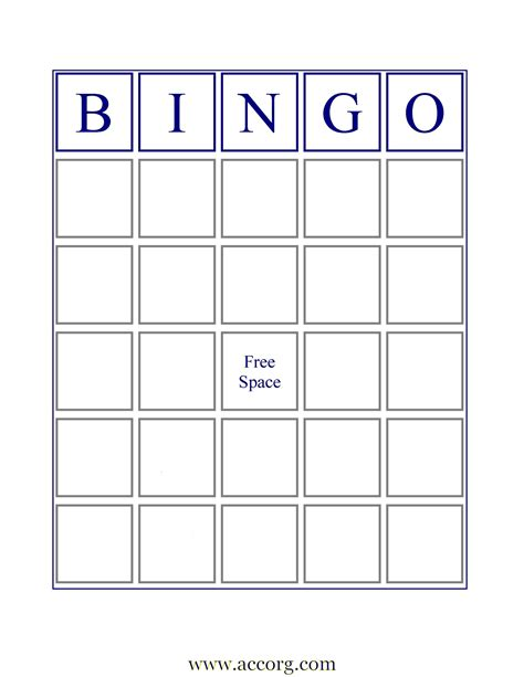 bingo standard card template blank bingo cards if you want an image of a standard