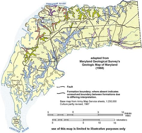 maryland formation map geologic maps of maryland kent county