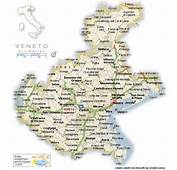 A Detailed Map Of Veneto Italy