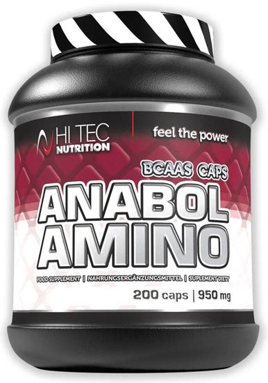 Hi Tech The Chain Aminos Bcaa anabol amino 200caps bcaa branched chain amino acids whey
