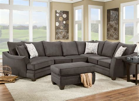 american upholstery american furniture 3810 sectional sofa that seats 5 with