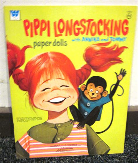 pippi longstocking picture book 1974 pippi longstocking paper doll book