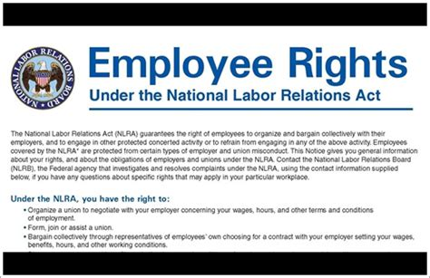Nlra Section 7 Rights by National Labor Relations Act Archives Hospitality Risk