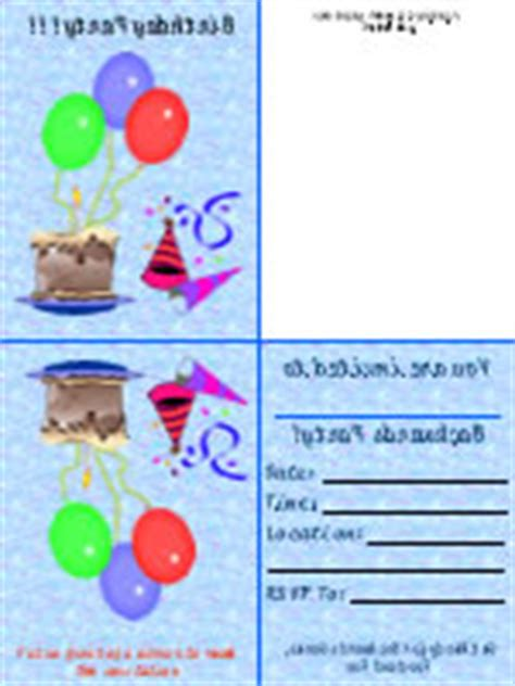 printable birthday invitations foldable find the ultimate free printable birthday cards