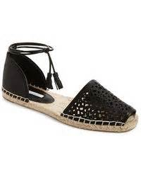 Flat Shoes Cynthia Bernice 595 lanvin flat espadrille sandals with bows in black lyst