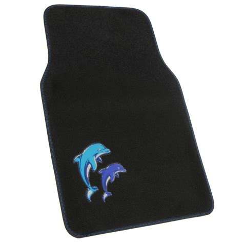 dolphin front and rear carpet mats car auto suv trucks