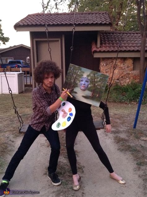 bob ross painting costume bob ross and his painting costume photo 3 3
