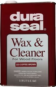 Dura Seal Wax & Cleaner 1 Gallon   223 Coffee Brown