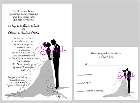 wedding invitation wording from and groom wedding invitation from and groom