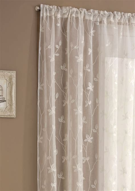 cream panel curtains florence cream panel net voile slot top ready made lined